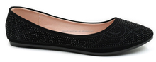 Comfort flat shoes women stud ballerinas pointed-toe ballet flats shoes leather shoes