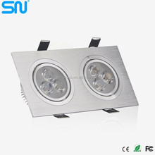 China market of electronic 6W led cob downlight Double heads COB flexible degree led recessed downlight with 3 year warranty