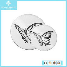 New Design sterling Silver Butterfly Oxidised Coin Locket Pendant