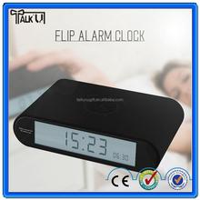 Fashion design led digital flip table alarm clock/auto flip table alarm clock/Christmas gift table alarm clock