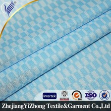 2015 Top quality Beautiful Comfortable Garment white blue check fabric