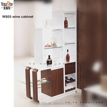 2015 hot sale great design glass wooden wine cabinet