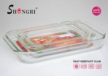 1L 1.8L 2.3L 3L Rectangle high borosilicate glass baking dish pyrex glass baking dish/pan/ tray heat resistant glass dish