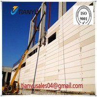 Factory made lightweight strong aerated concrete panel, AAC ALC NALC Hebel panel for residential building