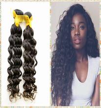 2015 Aliexpress hair extension, 3 bundles brazilian hair weave for man