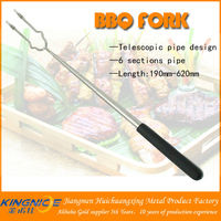 Plastic handle two prongs extendable bbq fork