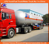 ASME tri-axle LPG tanker trailer, Chinese manufacturer 3 axle LPG tanker trailer, 58600L used LPG tanker semi trailer