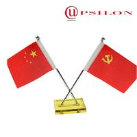 Custom desk flag pole double flagpole finials