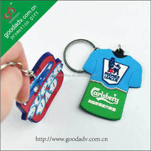 High quality promotional products 3d logo new york keychains wholesale