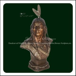 Outdoor Decorative Cast Bronze Bust For Garden Decoration