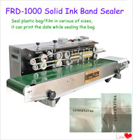 Factory Price 2 In 1 Continuous Band Heat Plastic Bag/Film Sealing Machine With Date Coder