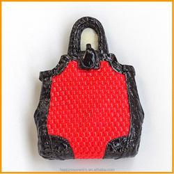 3D Fashion Handbag polyresin souvenir fridge magnet made in China