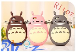 2015 Newest 3D Cartoon My Neighbor Totoro Silicon Back Cover Case For Iphone5/5S/6/6Plus Instock WIth Factory Price