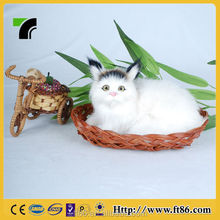 Perfect sculpture Children's toys animal model fur animals animated Pointed ears cat