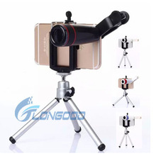 Universal Telescope Set 8X Zoom Optical Clip Wide Angle Lens for mobile phone camera for Smart Cell Phone