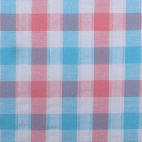 100% combed cotton, stock shirting fabric, cheap woven ,plaid