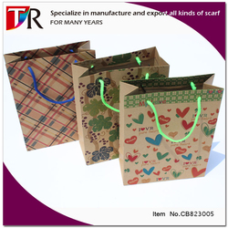 wholesale very cheap recyclable kraft paper bag 3d pop-up gift paper bag