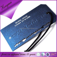 Matte hangtag with stamped logo