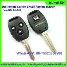 old hondaa car remote key with competitive price, 315Mhz remote key ,433.92Mhz remote