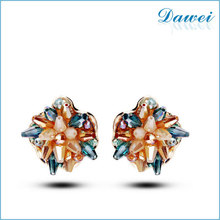 Women Tiny Fashion Multipe Flower Stud Earring 2015 earrings wholesale