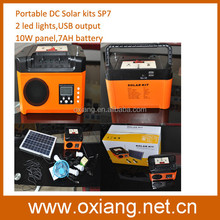 Off grid 5W 10W 20W portable mini solar home lighting kit with moblie charger