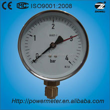 """(Y-100) 4"""" 100mm double pointer black steel case with chrome cover pressure gauge sensor"""