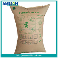 Brown color kraft paper dunnage air bag for delivery protection