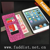 book leather case for ipad mini leopard pattern