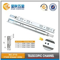 37mm Cheap 3-fold Ball Bearing Drawer Slide