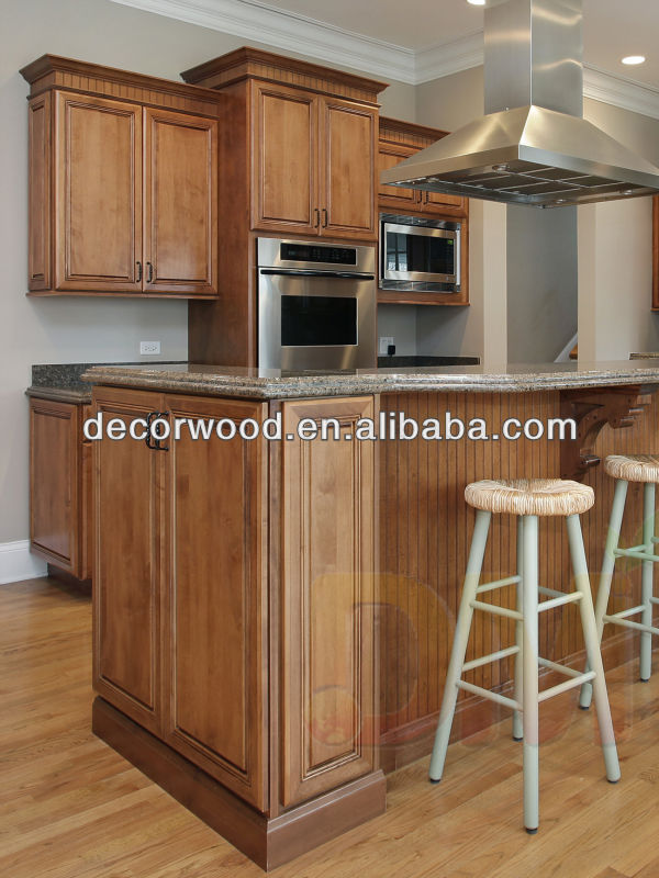 Classic style american glazed kitchen cabinet kitchen for Best american made kitchen cabinets