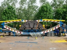 mega disk rides Attractions travelling flying UFO with trailer amusement rides