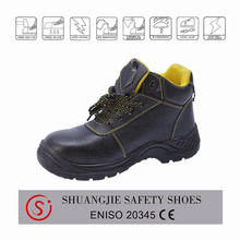 2015 new style Genuine cow leather anti-slip industrial safety shoes