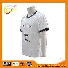 Low MOQ best sell good quality custom fashion animal printing led t-shirt