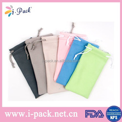 Hot sale grey microfiber clll phone hand phone pouch for men