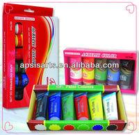 75ml acrylic,6 colours in display box