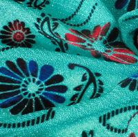 Flocking velvet chiffon/polyester flocking chiffon fabric/polyester velvet chiffon with flocking
