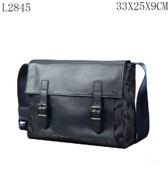 Camouflage Nylon with PU Leather Flap Messenger Men Bag L2845