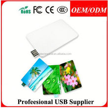 Free sample , custom color printing card usb real capacity grade a quality , business card promotional gift usb