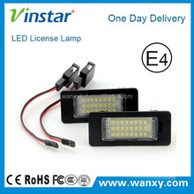 Error free auto car parts for audi q5 number plate light LED