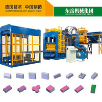 qt10-15 dongyue automatic hydraulic press brick making machine for hollow paver blcoks