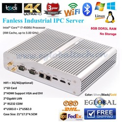 Newest without fan mini I7 4500E 8GB RAM NO SSD 4 USB 3.0 Fanless System 300M wifi with dual antennas small desktop mc