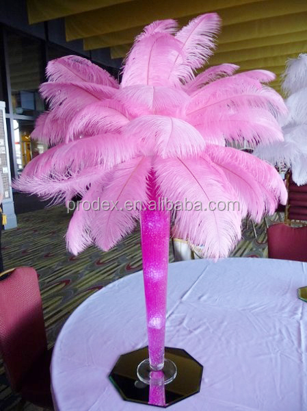 Wholesale party decorations pink ostrich feather