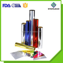 Chinese manufacturer colour metalized PET film rolls for gift packaging
