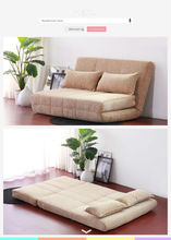 simple design multi-purpose Pull-out Sofa Sleeper Bed/ Fabric Sofa bed B84 with 2 pillows