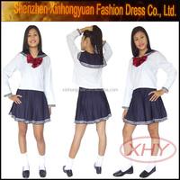 Hot sale sexy high school uniform for girls