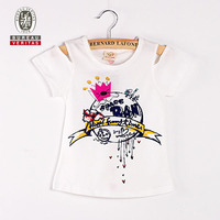 Kids summer clothes 2012 crown pattern short sleeve pretty kids clothes