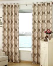 2015 New Luxurious Gold Color Window Curtain, New Jacquard Faux Linen Blackout Curtain, High Quality Polylinen Grommet Curtain