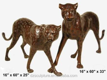 New products farm copper life size animal statues panther