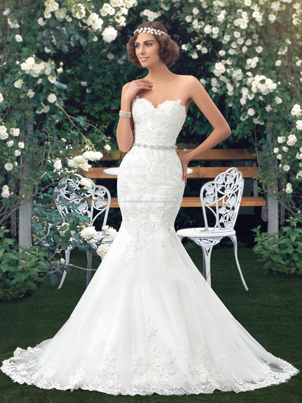 Romantic Backless 2017 Gorgeous Appliques Robe De Mariage Bride Gown ...