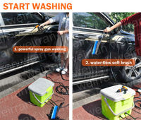 (84081) Electric car washer 16L cleaning powered portable car washer DC 12V car wash
